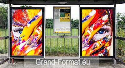 Dimension affiche pour abris bus